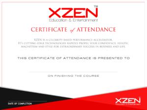 XZEN Certificate